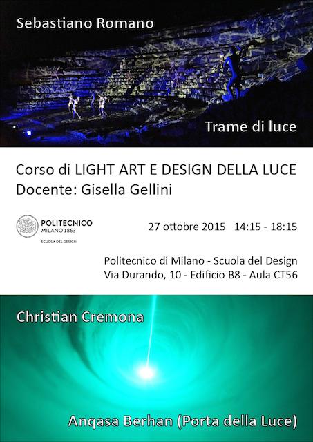 Lezione al Politecnico di Milano 2015