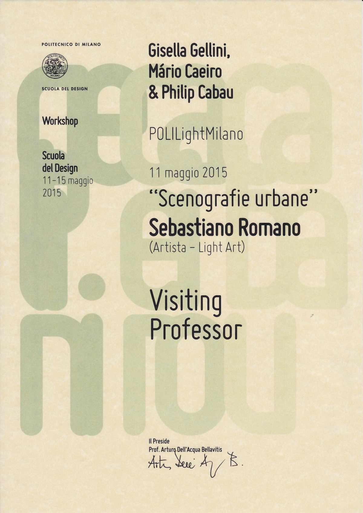 Workshop Scuola del Design - Politecnico di Milano
