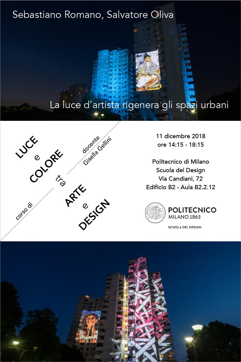 Lezione al Politecnico di Milano 2018